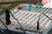 DJ mixer Console — Stock Photo