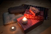 Christmas gifts still life — Stock Photo