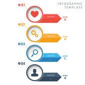 Cirkel info grafische sjabloon met pictogrammen op witte achtergrond. — Stockvector