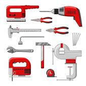 Electric power tools. Color vector illustration. — Stock Vector