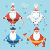 Today everyone is Santa. Color vector illustration. — Stock Vector