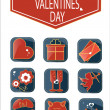 Set of romantic Valentines day icons. — Stock Vector #62846851