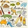 Collection of Australia icons — Stock Vector #64251707