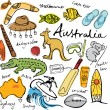 Collection of Australia icons — Stock Vector #64252009