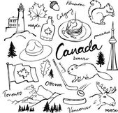 Canada icons set — Stock Vector