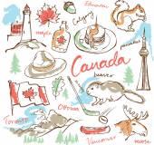 Canada icons set — Stock Vector