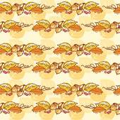 Fall autumn seamless background — Stock Vector