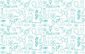Medical icons seamless pattern — Stock Vector