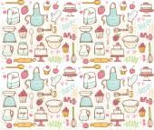 Baking kitchen icons — Vetor de Stock