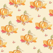 Thanksgiving autumn seamless background — Vector de stock