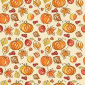 Thanksgiving autumn seamless background — Stock Vector