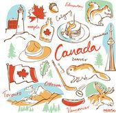 Canada icons set — Vector de stock