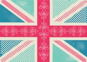 Union Jack  pattern — Stock Vector