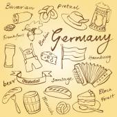 Germany icons pattern — Stock Vector