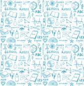 School theme seamless — Stock Vector