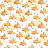 Thanksgiving autumn seamless background — Stock Vector