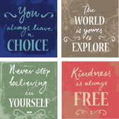 Set Of 4  Inspirational Quotes — Stock Vector
