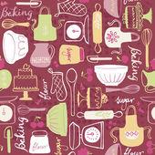 Baking kitchen icons — Stock Vector