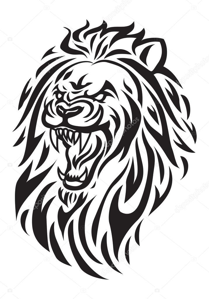 Tatouage de t te de lion photo 90206124 - Tete de lion tatouage ...