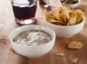 Snack and dip — Foto de Stock