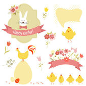 Set of easter elements — Stock Vector