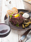 Fresh beef tartare — Stock Photo