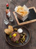 Fresh beef tartare — Stock Photo