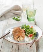Stuffed chicken  breast — Stock Photo