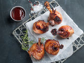 Grilled chicken leg — Stock Photo