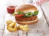 Taze burger — Stok fotoğraf