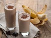 Chocolate and banana smoothie — Stock Photo
