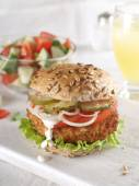 Frische burger — Stockfoto