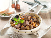 Beef and vegetables goulash — Stock Photo
