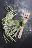 Fresh homemade pasta — Stock Photo