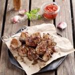 Постер, плакат: Grilled meat kebab