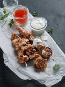 Grilled meat (kebab) — Stock Photo