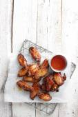 Grilled chicken wing — Stock Photo