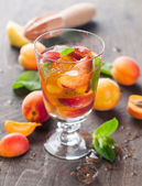 Summer drink with apricot — Stock Photo