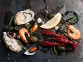 Delicious fresh seafood — Stock Photo
