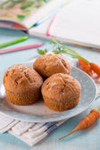 Carrot muffins — Stock Photo
