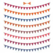 Set of color festive  garlands and bunting — Stock Vector