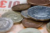 One pound coins — Stock Photo