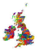 Great Britain Map — Stock Photo