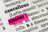 Cancer  Dictionary Definition — Stock Photo