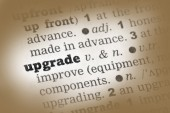 Upgrade  Dictionary Definition — Stock Photo