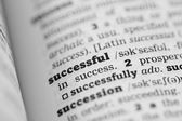 Successful Dictionary Definition — Stockfoto
