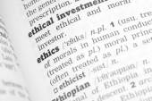 Ethics Dictionary Definition — Stock Photo