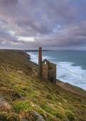 Wheal Coates tin mine Cornwall — Stock Photo