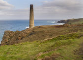 Historical coastline of cornwall Levant Mine — Stock Photo