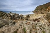 Porth Nanven Cove Cornwall UK — Stock Photo